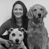 Carlie Seelig and her two dogs