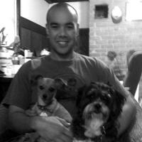 Rayel Friesen and his two rescued best friends